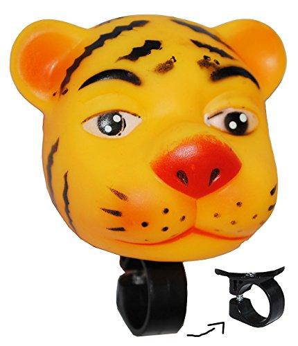 Fahrradhupe / Fahrradklingel - Tiger - Fahrrad für Kinder - passend für alle Größen - bunt Kinderglocke - Mädchen & Jungen - Tier Lenkerhupe - Tier / Quietsch..