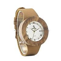 QTMIAO ファッション時計 BOBO BIRD美しい時計 木製の時計ボボの鳥の木製のテーブル (Color : 2)