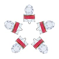 Dr.Fish 5PCs Diamond LED Fishing Lure Bait Attractant Deep Drop Light Water Trigger Trolling Rig Deep Sea Ice Fishing Underwater Freshwater Saltwater Halibut Tuna Bass Red