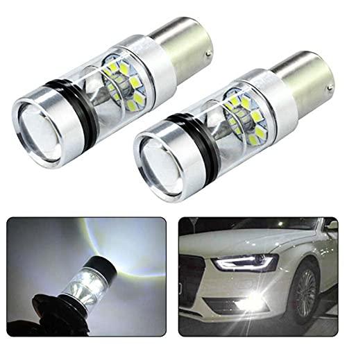 ATIN 2 bombillas LED de 100 W 1156 BA15S 382 P21 W CREE XBD con luz de marcha atrás