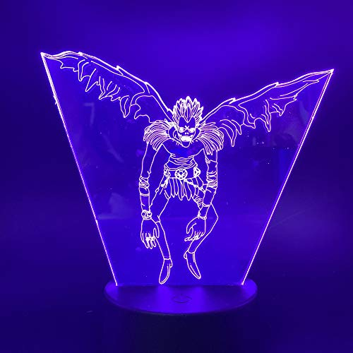 sanzangtang Luz Nocturna LED 3D-Vision-Seven Colors-Remote Control-Japanese Manga Notes Picture