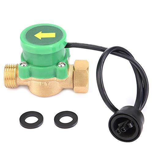 G1 / 2-G1 / 2 Sensor de flujo de bomba de agua de 220 V Interruptor de flujo de acero inoxidable resistente a altas temperaturas para encendido por baja presión de agua Encendido del