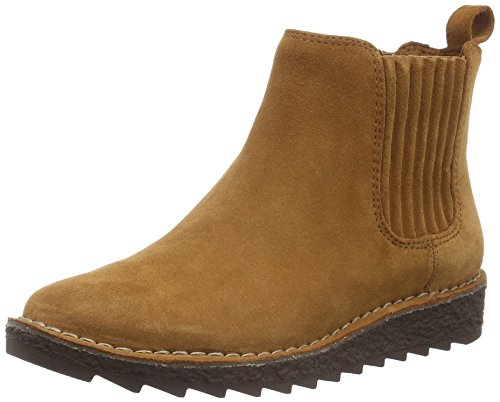 Clarks Clarks Damen Olso Chelsea Boots, Braun (Tan Suede), 39.5