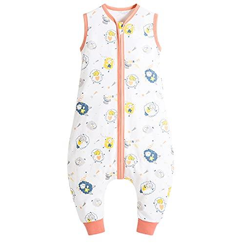 Saco de dormir para bebé, 0,5 tog, sin mangas, con cremallera bidireccional, súper suave, ideal para los meses de verano, 100% algodón (oveja, XL)