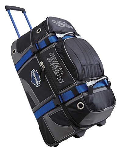 Harley-Davidson 22' Blue & Black Carry-On Wheeled Luggage 99415-BLUE/BLK (22')