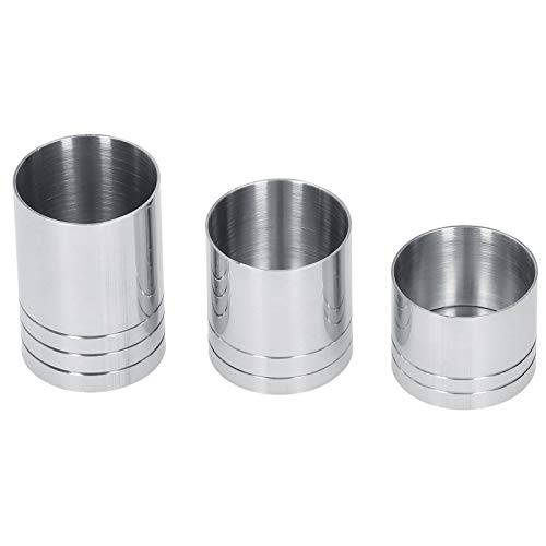 Tazas medidoras de acero inoxidable de 3 piezas, taza medidora de cóctel, vaso graduado redondo, taza medidora, herramienta de barman
