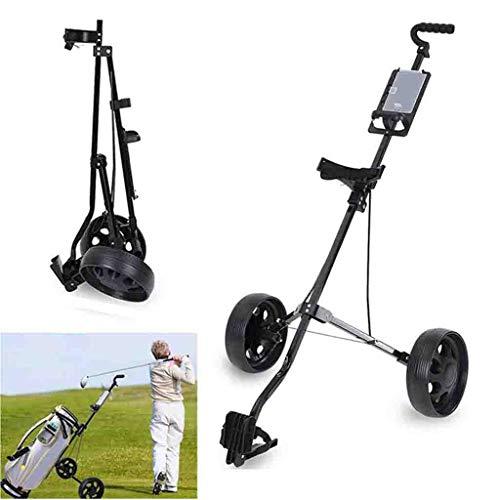 Golfwagen Golf Trolley 2 Räder Aluminium Golf Trolley Golfwagen Klappbar Mit Scorecard Für Outdoor-Reisesport Professional Golf Cart