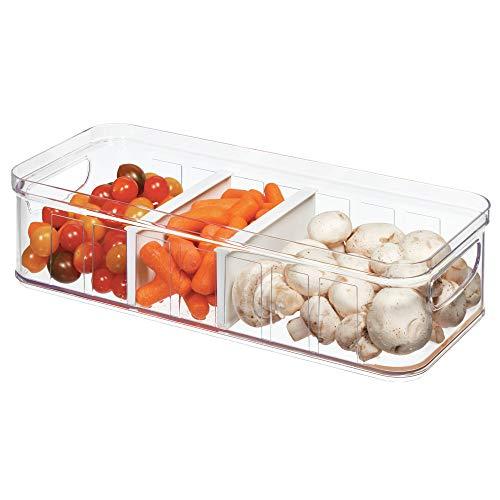 iDesign Organizer cucina (37,6 cm x 16,1 cm x 9,6 cm), Grande box frigo in plastica priva di BPA, Contenitore frigo ideale per conservare alimenti in cucina, trasparente