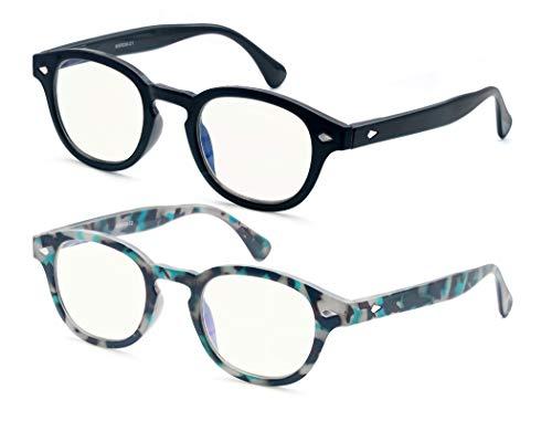 HEEYYOK 2 paquete Gafas con bloqueo de luz azul para mujer mujer,proteccion UV,conveniente a la moda,apto para pantalla de computadora TV tableta telefono