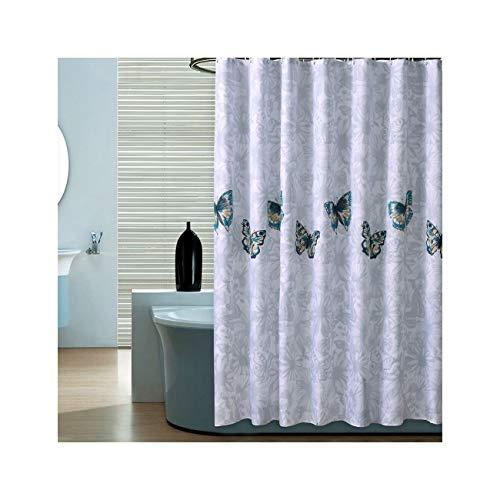 DOLOVE Polyester Duschvorhang Antischimmel Badvorhang Vintage Schmetterlinge Antischimmel 3D Duschvorhang 100x200 cm