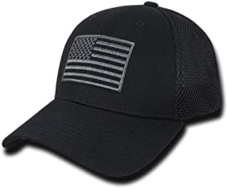 USA US American Flag Tactical Operator Mesh Flex Baseball Fit Hat Cap