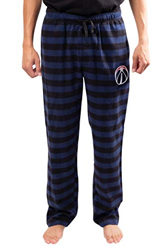 Ultra Game NBA Washington Wizards Mens Sleepwear Super Soft Flannel Pajama Loungewear Pants, Team Color, Medium