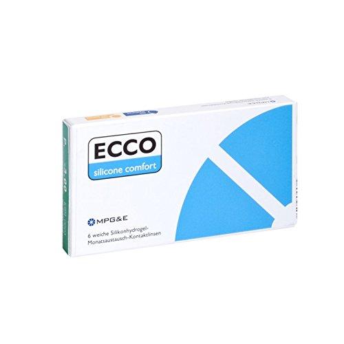 ECCO Silicone Comfort Monatslinsen weich, 6 Stück / BC 8.60 mm / DIA 14.20 mm / -2 Dioptrien