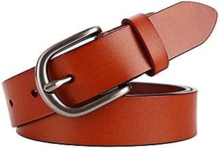 SGJFZD Ladies Belt Leather Retro Fashionable Wide Belt Jeans Casual Pants (Color : Brown)