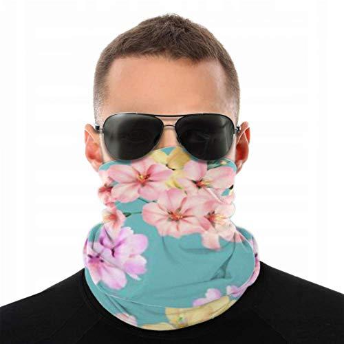 Stirnbänder für Männer Frauen Hals Gamasche, Gesichtsmaske, Stirnband, Schal Blumen Nahtloses Muster Bunte Somei Yoshino Turban Multi Schal doppelseitigen Druck