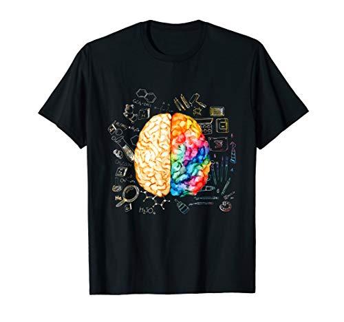 Colorful Brain - Science And Art - Neuroscience Neurologist T-Shirt