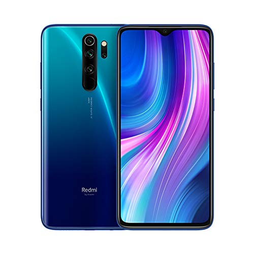 Xiaomi Redmi Note 8 Pro Phone 6GB RAM + 128 GB ROM, 6.53'Full Screen, Helio G90T Octa-Core MTK CPU, 20MP Front e 64MP AI Four Mobile Camera Camera Posteriore Versione Globale (Blu)