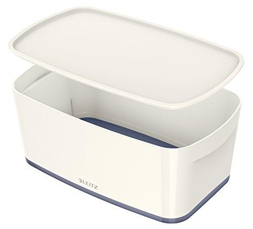 Leitz MyBox, Aufbewahrungsbox mit Deckel, Klein, Blickdicht, Weiß, Kunststoff, 52294001