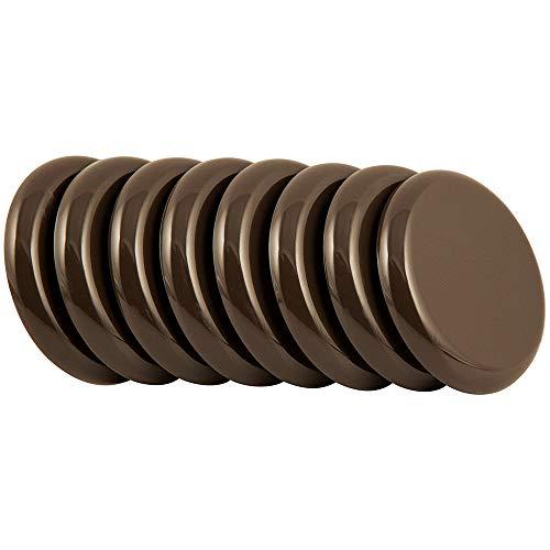 Super Sliders 4724495N Reusable Slider for Medium Sized Furniture on Carpet 2-1/2 Inch Brown, 8 Pack, 2-1/2', 8 Count