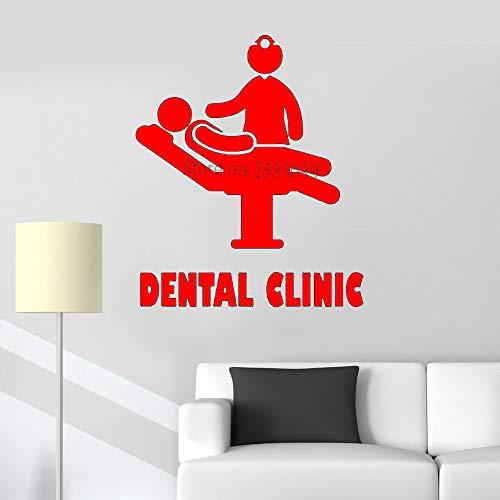 Ajcwhml Zahnklinik Logo wandaufkleber zahnklinik bieten wandtattoo abnehmbare Vinyl Zahn Applique Poster Krankenhaus Dekoration tapete LC864 84 cm x 100 cm