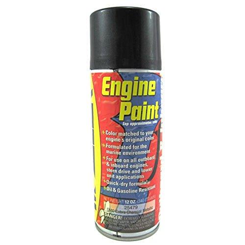 Moeller Engine Spray Paint, (12 Oz.) Omc Cobra Charcoal Metallic