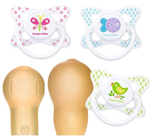 Canpol babies Beruhigungssauger Summertime Latex Kirschform Rund 3 St. (0 - 6 Monate)