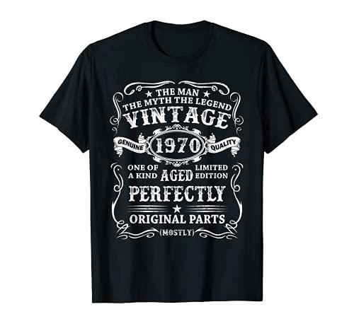 Hombre Nacido En 1970 Vintage 1970 51 Años Cumpleaños Hombre Regalo Camiseta