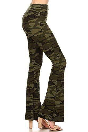 Leggings Depot PZA-R984-L Arctic Tie Dye Print Palazzo Pants, Large
