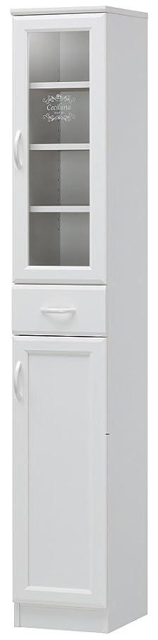 賞ステレオタイプランチョン白井産業 カップボード 約 幅30 奥行36 高さ181 cm キッチン 収納 棚  ホワイト (CEC-1830DGH セシルナ)