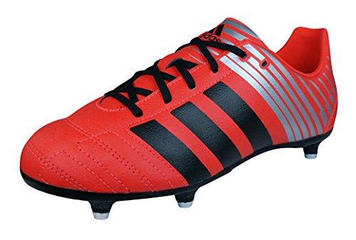 adidas Regulate Kakari SG Boys Rugby Boots-Red-3