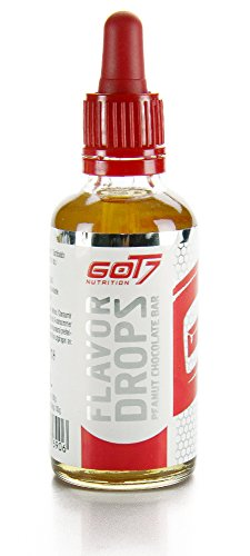 Got7 Flavor Drops New Edition - Aromatropfen – Flavordrops Kalorienfreies Aroma Lebensmittelaroma Diät Fitness 50ml (Peanut Chocolate Bar)