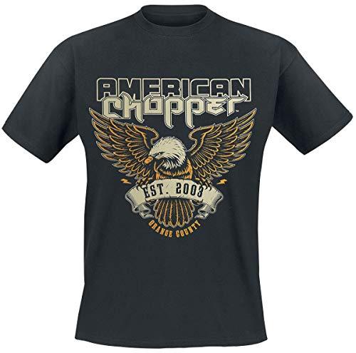 American Chopper Orange County Uomo T-Shirt Nero XXL 100% Cotone Regular