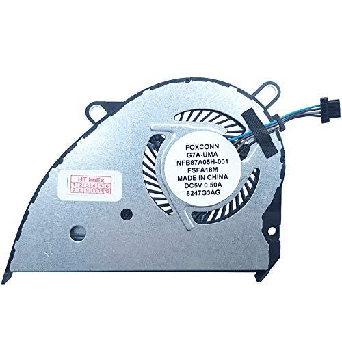 Lüfter Kühler Fan Cooler kompatibel für HP Pavilion 14-ce0001ng, 14-ce0401ng, 14-ce1301ng, Pavilion 14-ce0002ng, 14-ce0402ng, 14-ce1001ng, Pavilion 14-ce0014ns, 14-ce1006ng