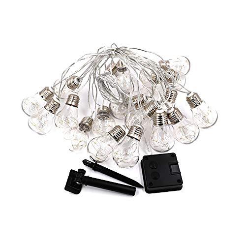 WSXD LED Weihnachtsbeleuchtung 4M / 6M / 8M 10/20/30 Birne G45 Globe Soffitte mit Kupferdraht-Fee Licht solarbetriebene Partei-Kugel-Schnur-Lampen (Color : Multicolor, Size : 6m20bulbs)