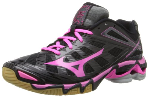 Mizuno Women's Wave Lightning RX3-W, Black/Pink,...