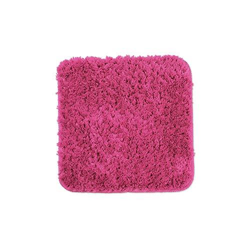 WohnDirect Alfombrilla de baño – Alfombra baño – Antideslizante – Alfombra para el Cuarto de baño – Lavable – Alfombrilla para el Inodoro – Fucsia - 45 x 45 cm