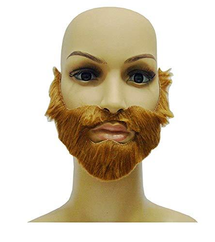 KIRALOVE 1 x Barba marrón Falsa para Pegatinas de Fiesta - Hombre - Adultos - Halloween - Carnaval - Idea de Regalo Original