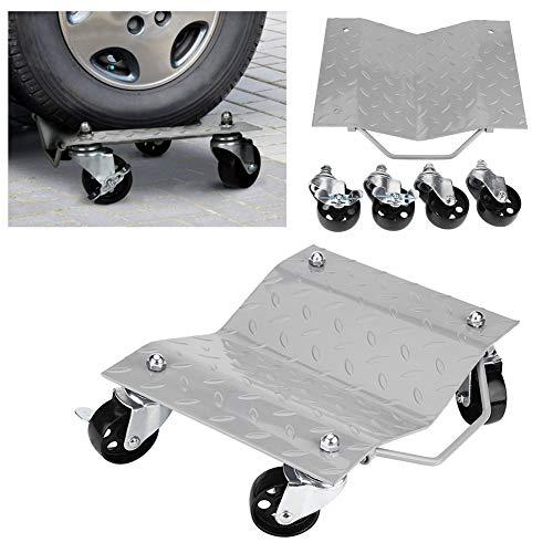 1 Paar Rangierwagen für Auto/Wagen, Halterung für Reifen, 360 Grad drehbare Räder, ideal zum Verschieben von Autos, Traktoren, Booten, Schneemobilen