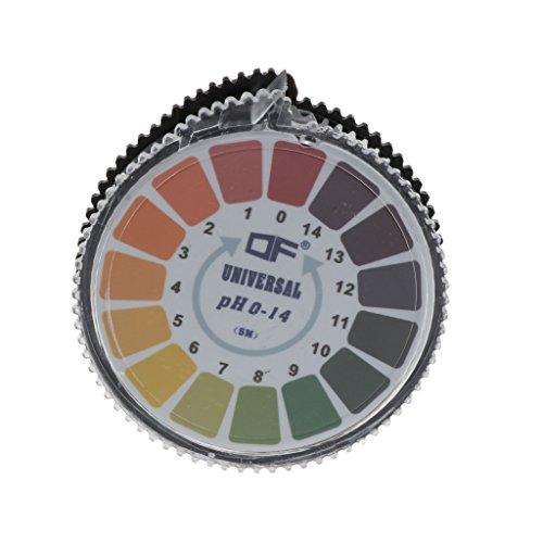 Roydoa Round 5m 0-14 PH Basische Säure Indikatorpapier Wasser Urin Speichel Lackmus Test