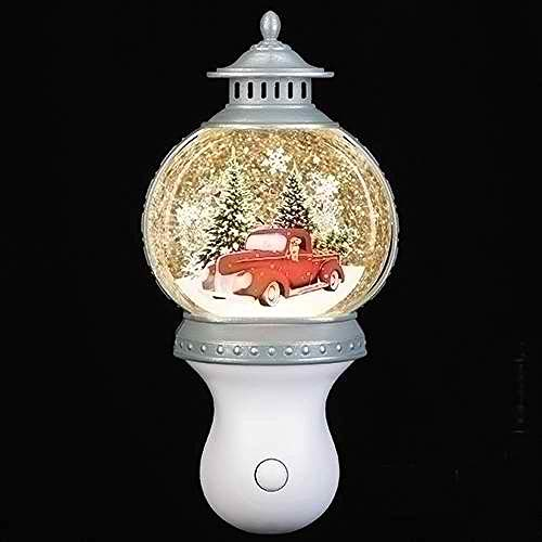 Roman Lights - 7.7' H Red Truck Swirl Nightlight Lantern, Festive Decoration, Beautiful Home Decor, Durable and Long Lasting LED Lighting, Perfect Addition to Any Room