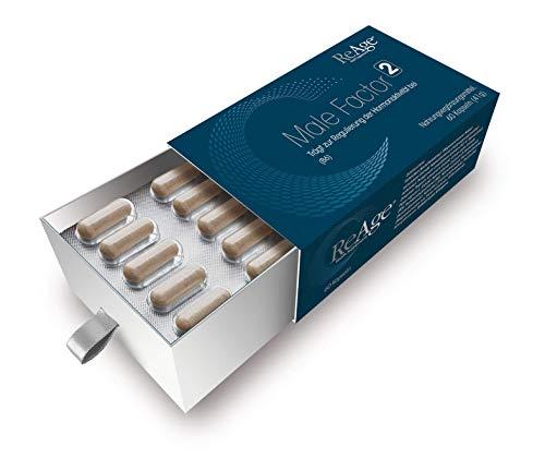 Male Factor 2 für Männer | Supplement gegen Testosteron Abbau | VIEL ZINK, MAGNESIUM & SÄGEPALME | Müdigkeit & Erschöpfung mindern |Muskelwachstum |60 Kapseln von ReAge