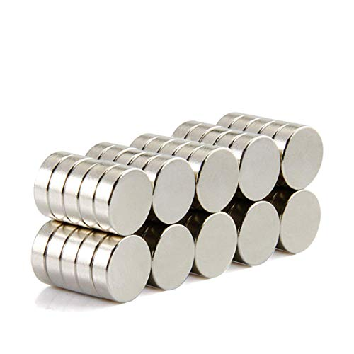 Mini Durable Round Magnets Organization Refrigerator Scientific Office Craft Projects Hanging DIY Silver