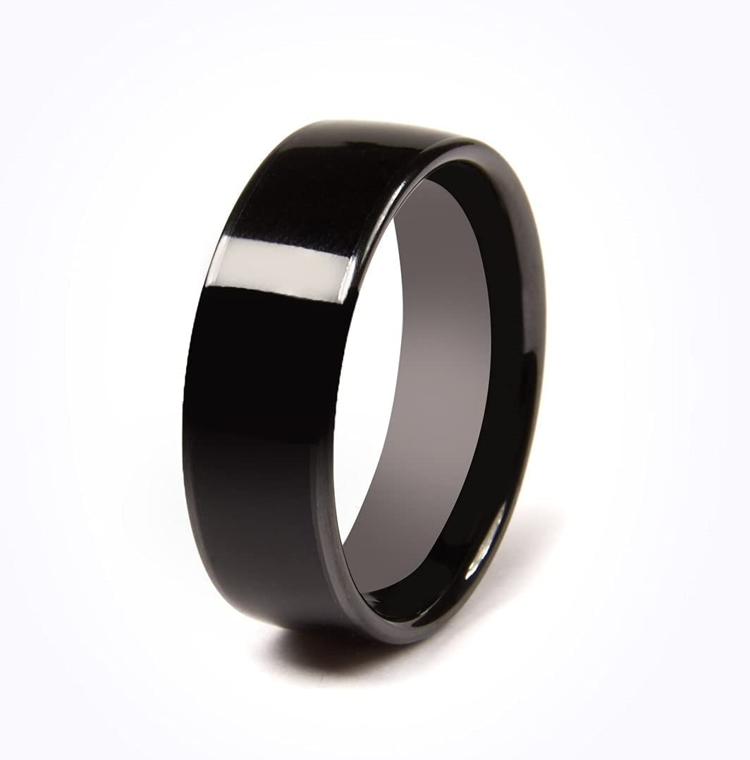 CNICK Tesla Smart Ring Accessories: Ceramic Ring for Model 3 and Model Y to Replace Key Card Key fob. (6, Black)