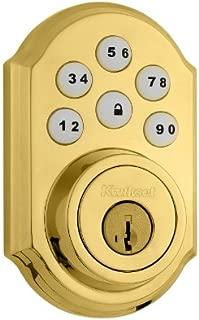 Kwikset 99090-017-R 909 SmartCode Electronic Deadbolt Featuring SmartKey in Lifetime Polished Brass (Renewed)