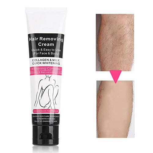 Crema depilatoria para el cabello, adopta extracto de papaya, fórmula suave, herramienta depilatoria para el hogar, disponible para los hombros traseros, removedor de cabello