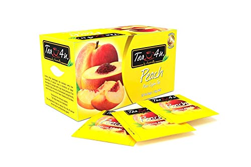 Tea4U Peach Black Tea Bags - Original Ceylon Tea