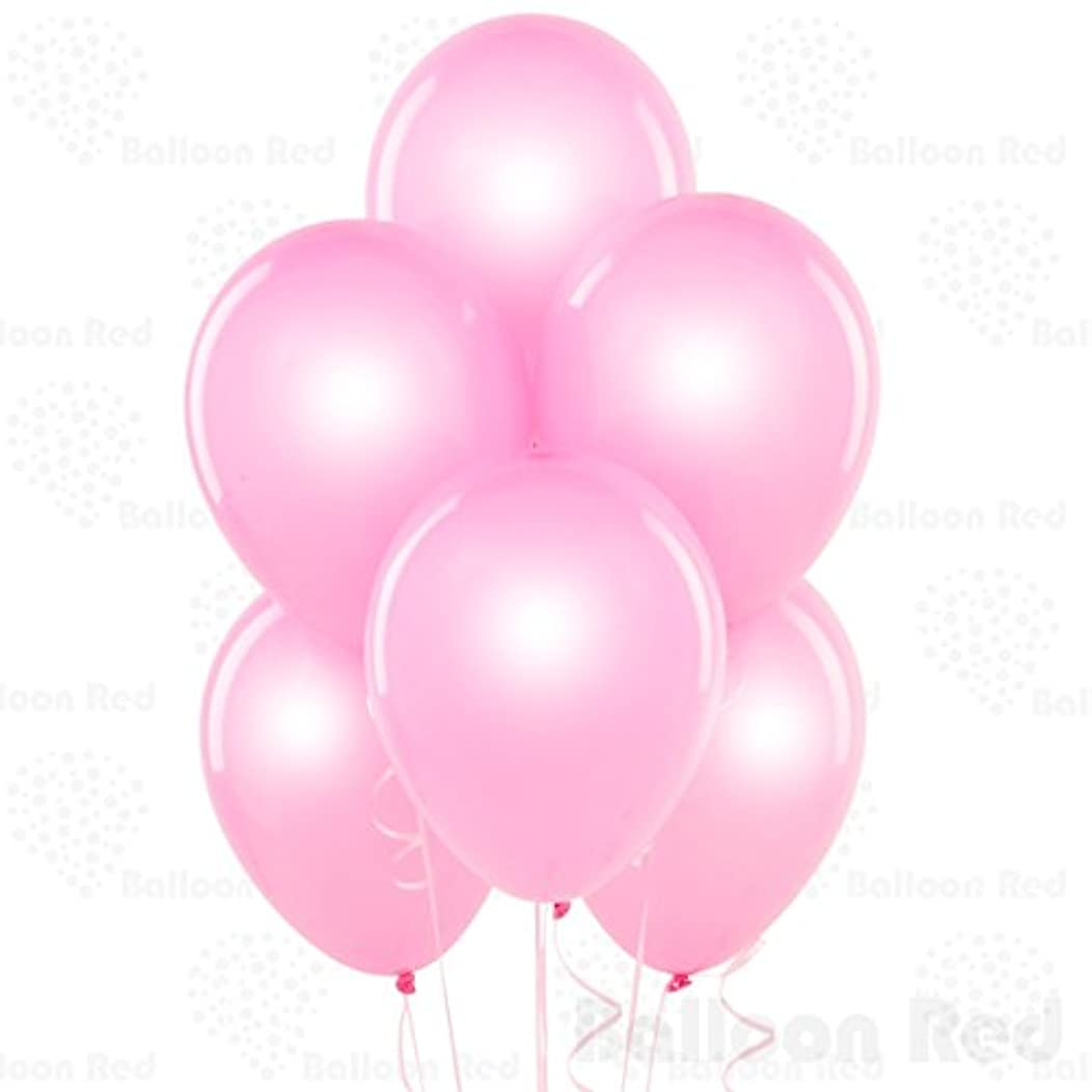 Pearl Baby Pink 12 Inch Pearlescent Thickened Latex Balloons, Pack of 144, Pearlized Premium Helium Quality for Wedding Bridal Baby Shower Birthday Party Decorations Supplies Ballon Baloon Thinken