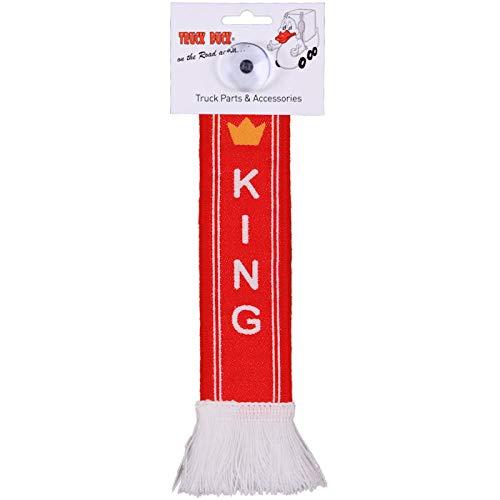TRUCK DUCK® LKW Auto Minischal King Krone Trucker Mini Schal Wimpel Flagge Fahne Saugnapf Spiegel Deko