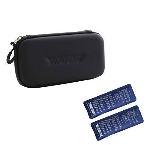 rosso Milisten Borsa termica portatile per insulina Organizzatore per diabetici Borsa termica medica da viaggio Borsa termica isolata con 2 sacchetti di ghiaccio per farmaci
