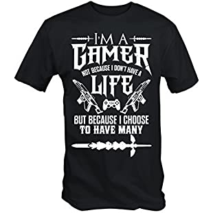 I'm a Gamer T Shirt (Black , Medium)